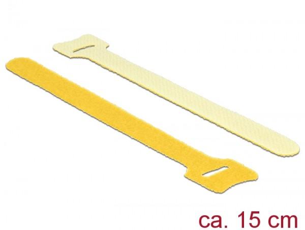 Klett-Kabelbinder L 150mm x B 12mm, 10 Stück, gelb, Delock® [18698]