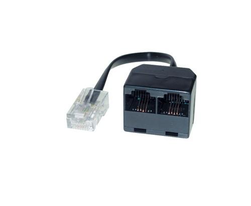 ISDN 2-fach Verteiler ohne Endwiderstand, 0,15m