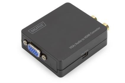VGA zu HDMI Konverter inkl. Audioübertragung, Digitus® [DS-40130-1]