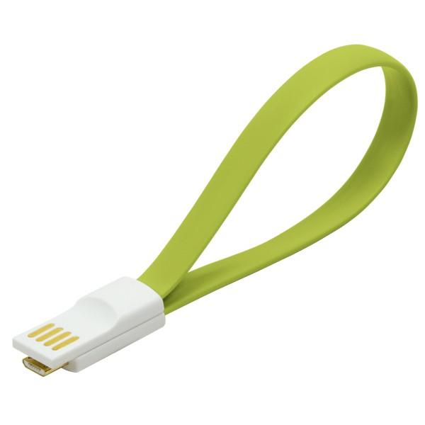 Kabel USB 2.0 zu Micro-USB, mit Magnetverschluss im Stecker, grün, LogiLink® [CU0086]