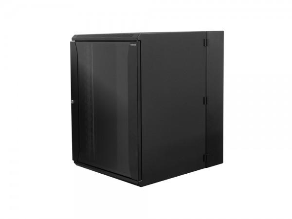 """19"""" Wandgehäuse zweiteilig 15HE 600X650mm, schwarz, LogiLink® [W15D67B]"""