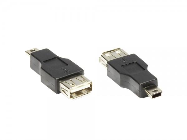 USB A Buchse an Mini-B-5-Pin Stecker, Good Connections®