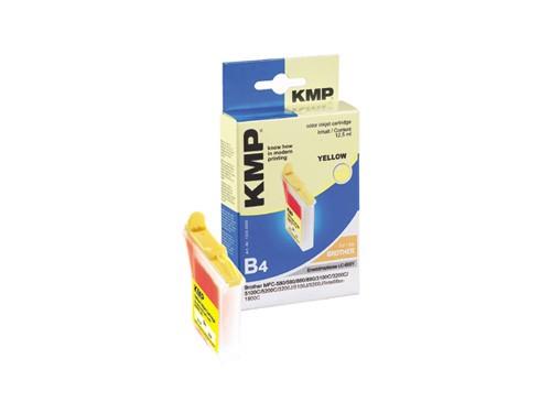 KMP Tintenpatrone kompatibel mit kompatibel mit Brother LC-600Y LC-21Y