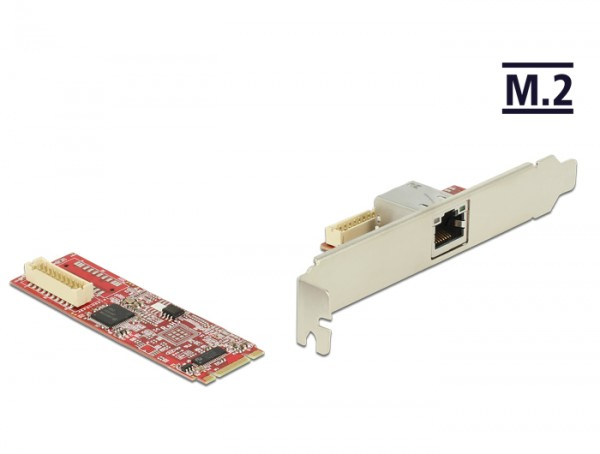M.2 Adapter M.2 an 1 x RJ45 Gigabit LAN Port -40°C ~ 85°C (PCIe), Delock® [62752]