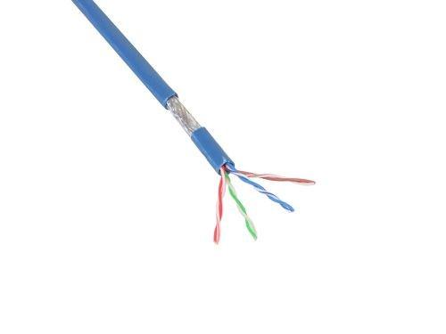Patchkabel, Cat. 5e, S/FTP, PiMF, PVC, blau, 100m Rolle, Good Connections®