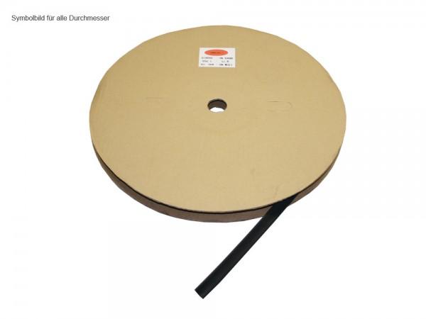 Schrumpfschlauch, schwarz, Schrumpfbereich: 10 bis 5 mm, 100m Rolle, Good Connections®