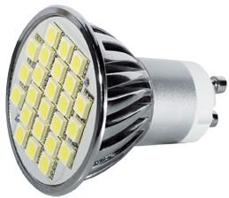 Power SMD-LED, 5W, 230V, 380 lm, 6000K, (kaltweiß), nicht dimmbar, A+, 120° Abstrahlwinkel
