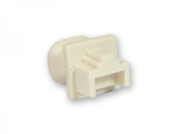 Staubschutzdeckel für RJ-45 Buchse, weiß, Good Connections®
