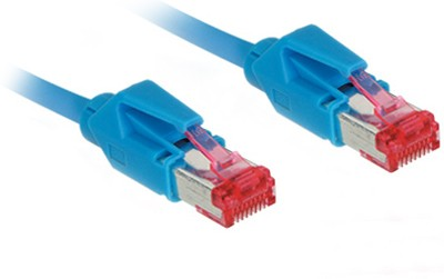 Patchkabel, Cat. 6, S/FTP, PiMF, halogenfrei, 600MHz, Hirose-Stecker, blau, 5m, Good Connections®