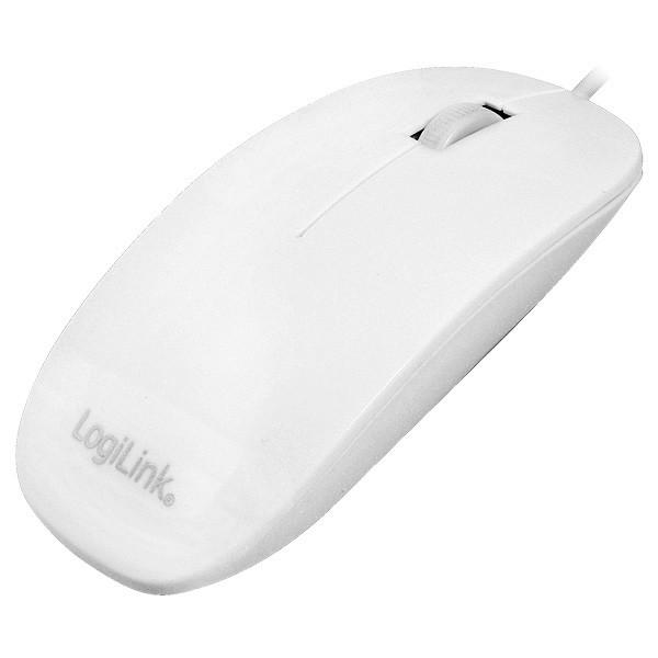 LogiLink® Maus optisch, weiß, flaches Design [ID0062]