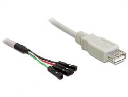 Kabel, USB 2.0 A Buchse an Pfostenstecker, Delock® [82433]
