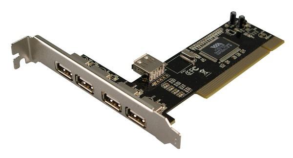 LogiLink® PCI Schnittstellenkarte USB 2.0 4+1 [PC0028]