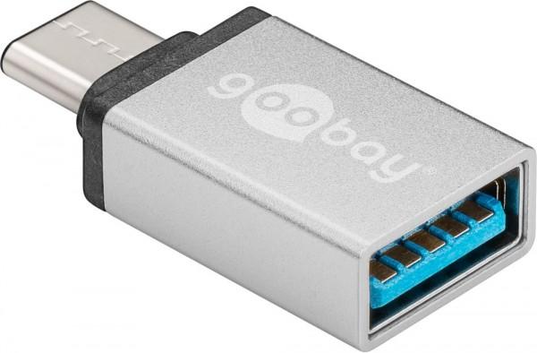 Adapter USB 3.0, USB-C-Stecker an USB 3.0 Buchse A, silber
