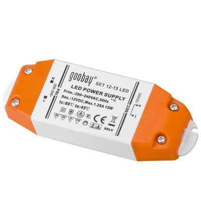 Trafo für LED leuchtmittel, 12 V DC, 0,5-15 W