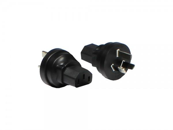 Stromadapter, Australien, China 3pin Stecker auf Kaltgeräte Buchse, Good Connections®