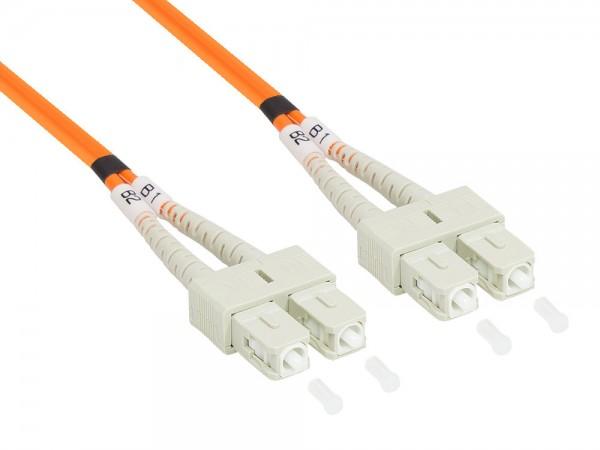 Patchkabel LWL Duplex OM2 (Multimode, 50/125) SC/SC, 15m, Good Connections®