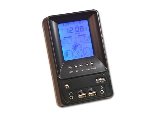 LCD Desktop Multi-Control-Panel inkl. USB-Hub, Mic & Audio-Anschlüsse