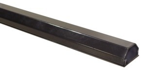 Kabelkanal Aluminium 50mm, 2-teilig, Länge 0,75m, schwarz