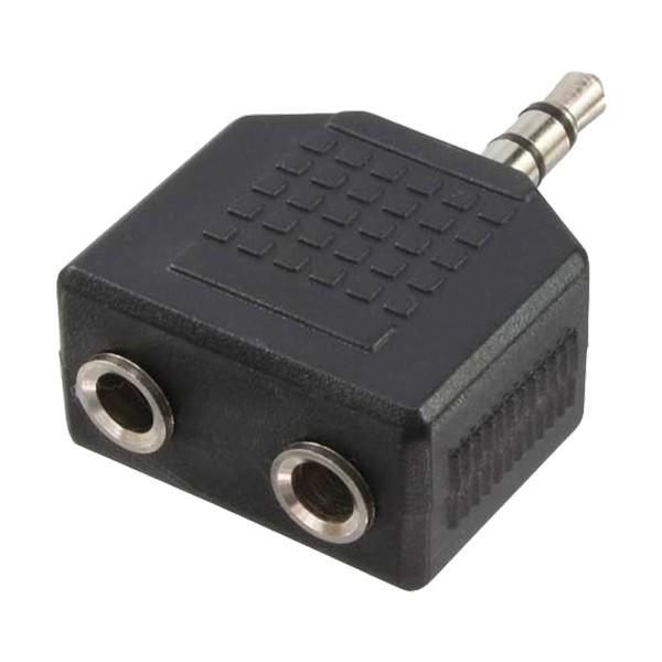 Audio Adapter 3,5mm Klinkenstecker zu 2x 3,5mm Klinkenbuchse, LogiLink® [CA1002]