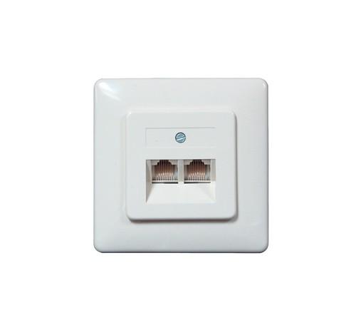 ISDN Unterputzdose, 2 x ISDN Buchse für 2 Amtsleitungen