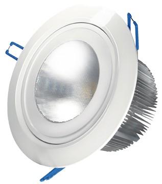 LED Einbaustrahler, 20W, 230V, 1200 lm, 3000K, (warmweiß), dimmbar, A, 30° Abstrahlwinkel