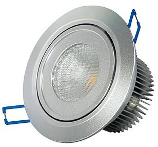 LED Einbaustrahler, 9,5W, 230V, 570 lm, 3000K, (warmweiß), dimmbar, A, 45° Abstrahlwinkel