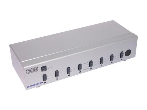 VGA Video Selector 8-fach, 250 MHz, inkl. Fernbedienung