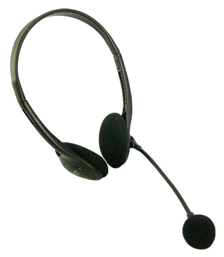 LogiLink® Stereo Headset Kopfhörer mit Mikrofon Easy [HS0002]