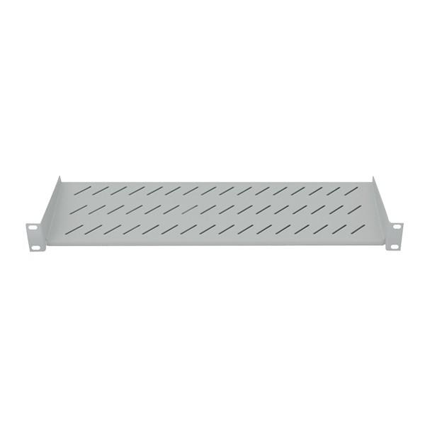 """19"""" Fachboden, Befestigung nur vorne, T=250mm, grau, LogiLink® [SF2C35G]"""