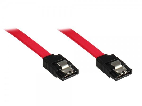 SATA 3 Gb/s Anschlusskabel, mit Arretierung, 0,7m, Good Connections®