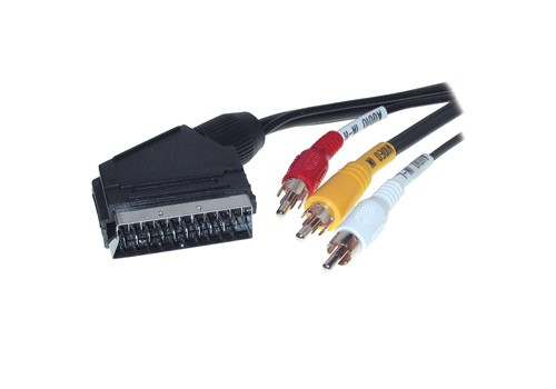 Anschlusskabel Scart Stecker an 3 x Cinch, 2m, Good Connections®