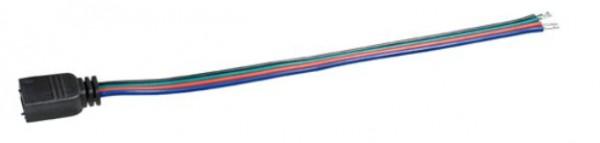 Anschlusskabel mit 4pol. Hohlstecker für RGB-Leisten, 0,15m