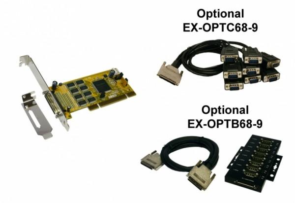Schnittstellenkarte, PCI 8S Seriell RS-232-Karte ohne Octopu
