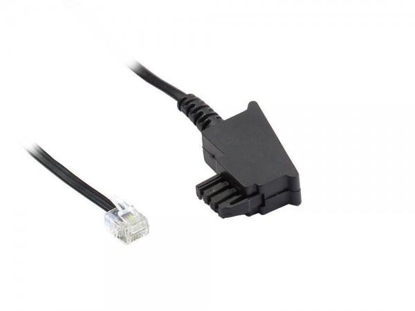 TAE-F Anschlusskabel für Import-Telefone, Länge: 15m, Good Connections®