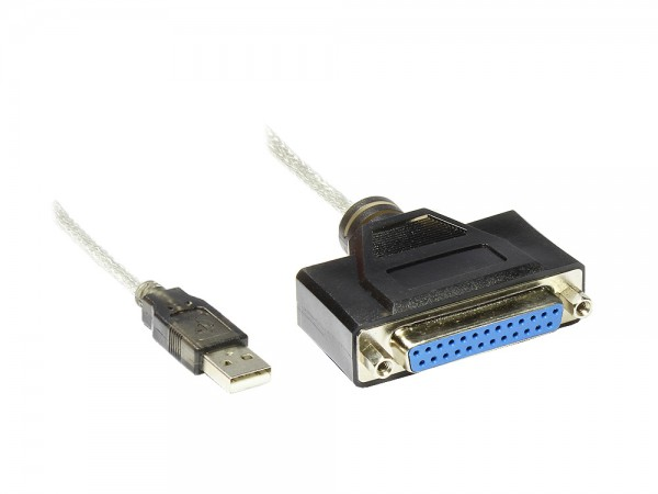 USB an Parallel Kabel 25pol, 1,5m, Good Connections®