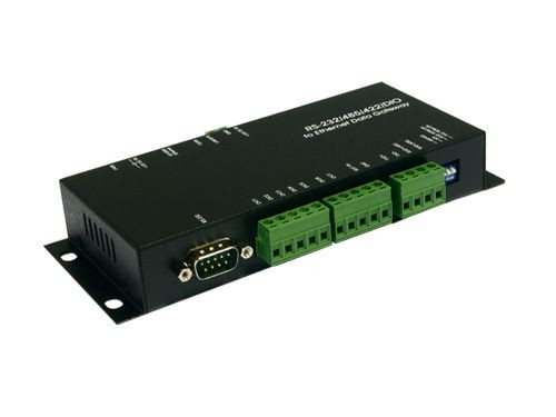 Ethernet RJ45 zu RS-232/422/485/DIO Data Gateway, Exsys® [EX-6010]