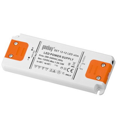 Trafo für LED leuchtmittel, 12 V DC, 0-12 W