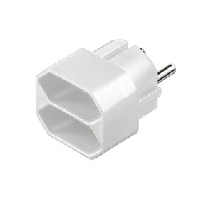 Schutzkontakt-/Euro-Adapter für 2 Euro Stecker, weiß, Good Connections®