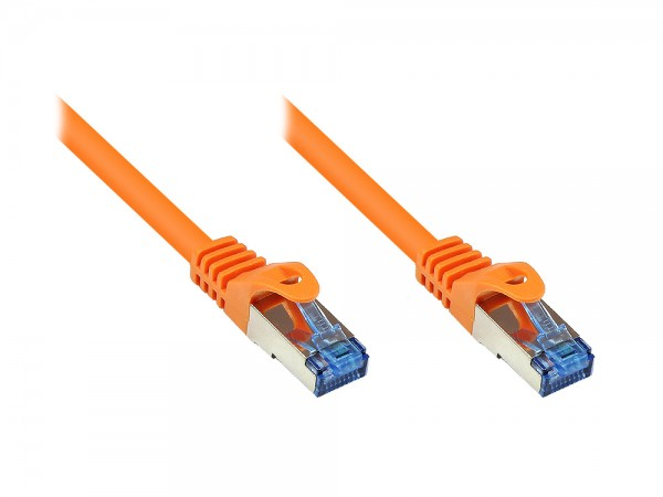 RNS® Patchkabel mit Rastnasenschutz, Cat. 6A, S/FTP, PiMF, halogenfrei, 500MHz, orange, 30m, Good Connections®