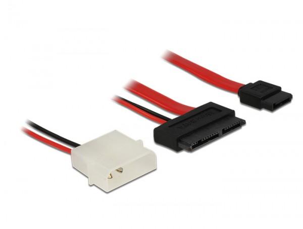 Kabel Micro SATA Stecker + 2 Pin Power 5 V an SATA 7 Pin 60 cm, Delock® [83795]