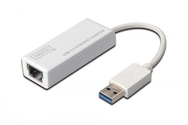 USB 3.0 Adapter, Gigabit Ethernet , USB-A Stecker, 10/100/1000MBIT, Digitus® [DN-3023]