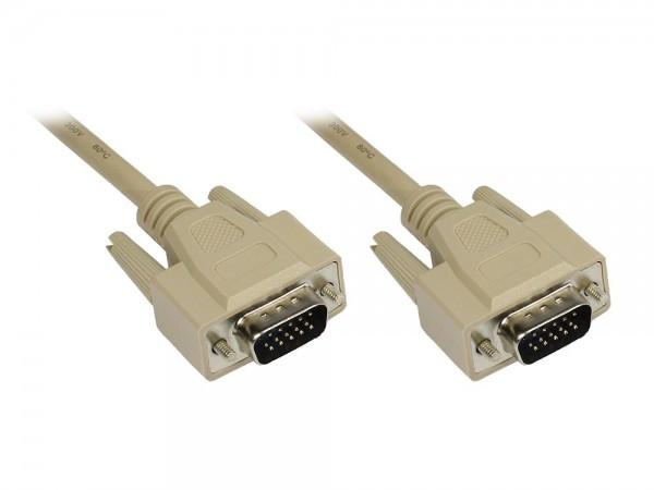 Anschlusskabel VGA Stecker an Stecker, grau, 5m, Good Connections®