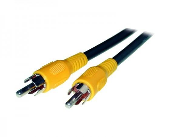 Cinch Video Verbindungskabel, gelb, Länge: 5m, Good Connections®