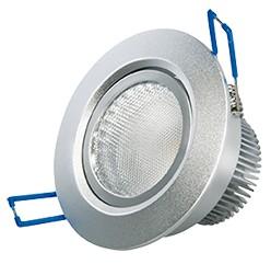 LED Einbaustrahler, 6,5W, 230V, 340 lm, 3000K, (warmweiß), dimmbar, A, 45° Abstrahlwinkel