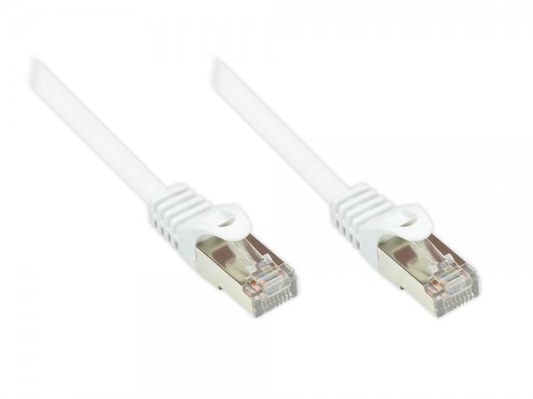 RNS® Patchkabel mit Rastnasenschutz, Cat. 5e, SF/UTP, PVC, 100MHz, weiß, 7,5m, Good Connections®