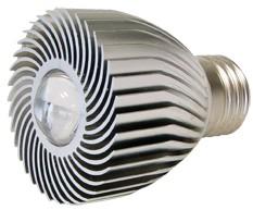 Power-LED, 3W, 230V, 120 lm, 3800K, (warmweiß), nicht dimmbar, A, 15° Abstrahlwinkel