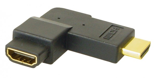 HDMI Adapter Stecker auf Buchse, 270° gewinkelt, vergoldete Kontakte, Good Connections®