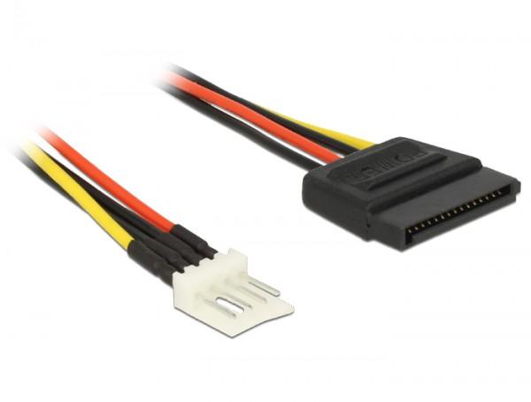 Stromkabel SATA 15 Pin Stecker an 4 Pin Floppy Stecker 24 cm, Delock® [83877]