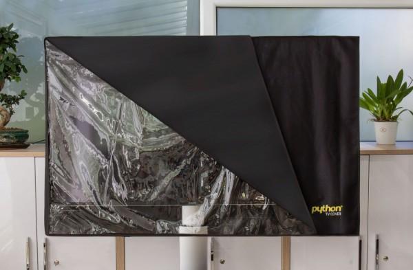 """Python® Series TV-Cover Indoor/Outdoor – wetterfester Universalschutz für Ihr TV oder Monitor, 147x92 cm, 60"""" bis 65"""""""