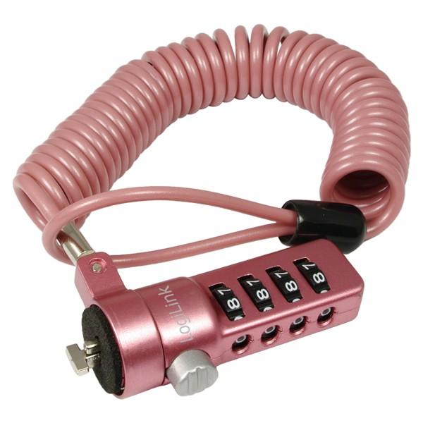 Notebookzahlenschloss, pink, Logilink® [NBS007]